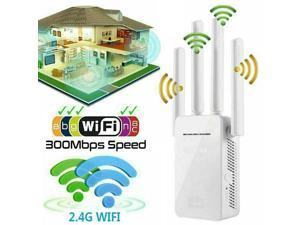 Dual-Band Wifi Extender Repeater AC1200 4 Antennas Wireless Router Network Signal Booster