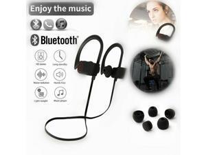 Waterproof Bluetooth 4.1 Earbuds Stereo Sport Wireless Headphones In-Ear Lanyard Headset