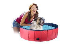Sim Luxury Foldable Dog Pool - PVC Folding Dog Cat Bath Tub Puppy Swimming Shower Bathing, Garden Patio Bathroom Ideal for Pets Children Kid(160*30CM)