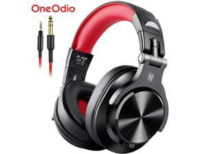 Oneodio A71 New Stereo Wired Over Ear Portable Headphone With Mic Studio DJ Headphones Professional Monitor Recording & Mixing Headset Red