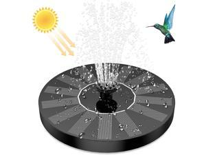AISITIN 1.5W Solar Fountain Pump, Newly Upgraded with 6 nozzles Solar Bird Bath Fountain, Suitable for Ponds, Gardens, Bird Baths, Fish Tanks, Outdoor Independent Solar Water Pump Floating Fountains