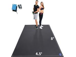 Extra Large Exercise Mat 96x54 inch, Non-Slip Workout Mats for Home Gym Flooring, Ultra Durable, 7mm Thick Cardio Mat for Plyo, MMA, Jump, Weightlifting - Shoe Friendly, Eco Friendly