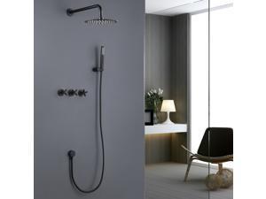 Matte Black Concealed Installation Stainless Steel Shower Faucet Set,Shower  System