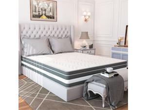 """13"""" Luxurious Plush Euro Top Gel Memory Foam And Hybrid Mattress With Natural Latex"""