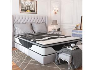 """12"""" Medium pillow top memory foam 5 zone innerspring mattress"""