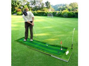 PGM Golf Putting Green Mat Indoor Golf Training Mat Professional Golf Practice Mat Green Challenging Putter for Outdoor Set Portable Office Practice Mat Easy Store