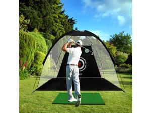 PGM Golf Hitting Net Driving Range & Chipping, Indoor Use Golf Training net, Outdoor Use Golf Practice Nets, Golf Driving Net Ball Collecting, Golf Swing net Backyard, Portable Golf Game Training Aid