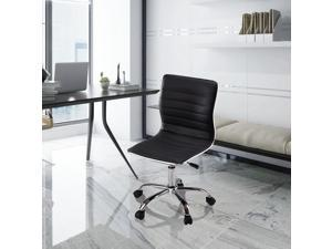 Comfort Armless Low-Back Office Chair,  Adjustable Swivel Task Office Chair