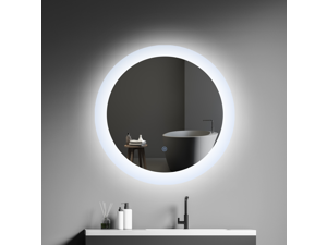 """24"""" Round LED Bathroom Mirror With Switch Control"""