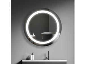 """30"""" Round LED Bathroom Mirror With Switch Control"""
