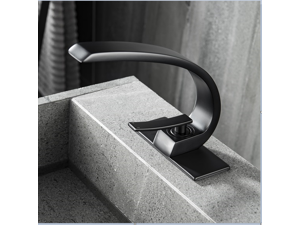 Modern Single Hole Bathroom Faucet In Matte Black