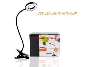 Gigbird 48 LED Clip Lamp Reading Lights 7W USB Book Clamp Light with 3 Color Modes 10 Brightness Dimmer Eye Protection Kids Desk Lamp 360 & Flexible Gooseneck Night Light Clip on for Desk, Bed ,etc.