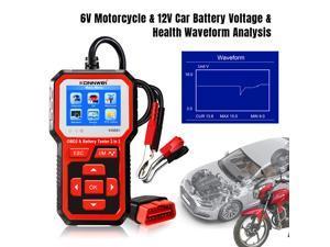 OBD2 EOBD Battery Tester 12V 6V Load Tester Car Motorcycle Battery System Analyzer 2000CCA Charging Cranking Test Tool
