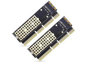 NVME adapter card M.2 to PCIE 3.0 full speed X16x4 x8 x16  computer motherboard MKEY SSD expansion card,Support (M Key) M.2 SSD 2280/2260/2242/2230 mm 2 Packs