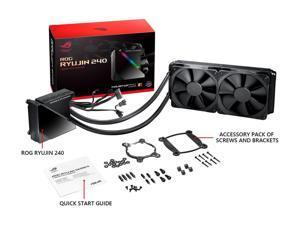 Asus Rog Ryujin II 240aio RGB liquid CPU Cooler 240mm radiator