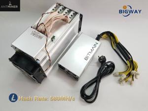 Asic Bitmain ANTMINER L3++ 580M (with psu) Scrypt Miner LTC Mining Machine Better Than ANTMINER L3 L3+ S9 S9i