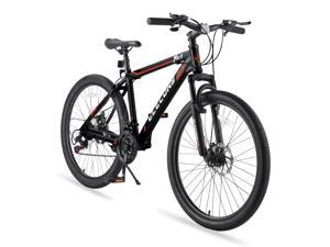 Elecony Saver100 24 Inch Mountain Bike Boys Girls Shimano 21 Speed Mountain Bicycle with Daul Disc Brakes and Front Suspension MTB