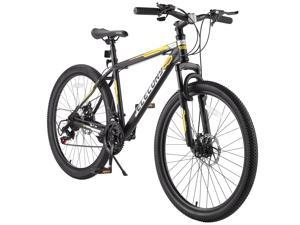 Elecony 26 Inch Wheels Mountain Bike,Shimano 21 Speeds with Mechanical Disc Brakes,High-Carbon Steel Frame, Suspension MTB Bikes Mountain Bicycle for Men and Women