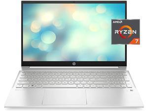 "HP 2021 Pavilion Laptop, 15.6"" FHD IPS Display, AMD Ryzen 7 5700U (>i7-10710U), 64GB RAM, 2TB SSD, Webcam, B&O Audio, WiFi 6, Bluetooth, Backlit Keyboard, Fingerprint, Numeric Keypad, Win 10 Home"