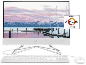 "HP 22-inch All-in-One Desktop Computer, 21.5"" FHD WLED Display, AMD Athlon Silver 3050U Processor, 16GB DDR4 RAM, 1TB PCIe NVMe SSD, HDMI, DVD, Pop-up Webcam, Windows 10 Home, Snow White"