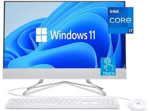 "HP 2021 Newest All-in-One Desktop, 27"" Full HD Touchscreen, 11th Gen Intel Core i7-1165G7 Processor, 32GB RAM, 1TB PCIe SSD + 1TB HDD, Intel Iris Xe Graphics, Windows 11 Home, Silver"