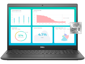 "Dell Business Laptop Latitude 3510 PC, 15.6"" HD Backlit Display, Intel Core i3-10110U, 8GB DDR4 RAM, 256GB SSD, Webcam, WiFi, Bluetooth, Win 10 Pro"