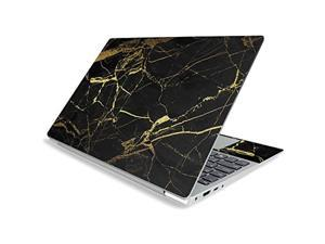 """Mightyskins Skin For Lenovo Ideapad S340 15"""" (2019) - Black Gold Marble   Protective, Durable, And Unique Vinyl Decal Wrap Cover   Easy To Apply, Remove, And Change Styles   Made In The Usa"""