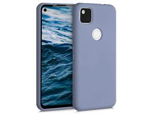 Case Compatible With Google Pixel 4A - Soft Rubberized Tpu Slim Protective Cover For Phone - Blue Grey