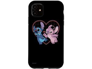 Iphone 11 Disney Lilo And Stitch Angel Heart Kisses Case
