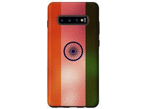 Galaxy S10+ India Flag And Stylish Rose Background - Indian Pride Case
