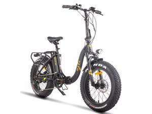 """750W Folding Electric Bike for Adults LG 48V Lithium Battery 20"""" Fat Tire Electric Bikes BaFang Motor Road City Snow Beach E-Bike Disc Brake Shock Absorber Front Fork Electric Mountain Bicycle UL GCC"""