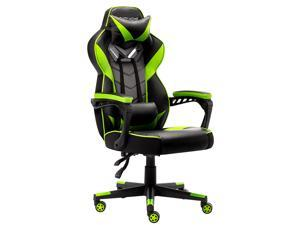 Bonzy Home Gaming Chair Office Chair High Back Computer Chair PU Leather Desk Chair PC Racing Executive Ergonomic Adjustable Swivel Task Chair with Headrest and Lumbar Support