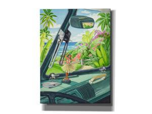 "Epic Graffiti 'Hidden Beach' by Evelyn Jenkins Drew, Canvas Wall Art, 12""x16"""