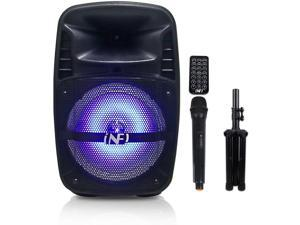 INFI Audio Wireless Portable PA Speaker System Karaoke Machine Portable PA System with Microphone and Tripods Remote Control for Adult