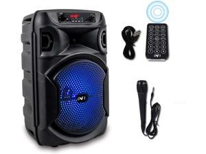 INFI Audio PA Speaker System Portable Karaoke Machine INFI Audio Bluetooth Speaker with Wired Microphone Remote Control LED Display USB Charging for Outdoor Party for A