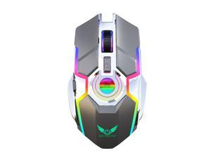 Wireless Gaming Mouse,large-size ,Ergonomic Hand Grips,TYPE-C Fast charge,7 Buttons,Fast-Charging,10 millons buttons life,RGB Gamer Desk Laptop PC Gaming Mouse, for Windows 7/8/10/XP Vista Linux MacOs