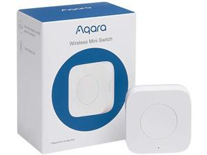 Aqara Wireless Mini Switch, Requires AQARA HUB, Zigbee Connection, Versatile 3-Way Control Button for Smart Home Devices, Compatible with Apple HomeKit, Works with IFTTT