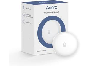 Aqara Water Leak Sensor, REQUIRES AQARA HUB, Wireless Water Leak Detector, Wireless Mini Flood Detector for Alarm System and Smart Home Automation, For Kitchen Bathroom Basement, Works with IFTTT