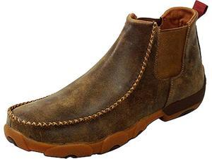Twisted X Casual Shoes Mens Leather Driving Moc 10 M Bomber MDMG002