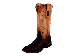 Ferrini Western Boots Womens Caiman Print Square 7 B Nicotine 90393-24