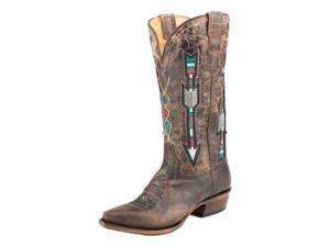 Roper Western Boots Womens Arrows Snip 9 B Brown 09-021-8126-1426 BR