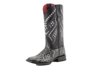 Ferrini Western Boots Womens Cleopatra Embossed 8 B Silver 83893-34