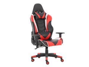 GIVENUSMYF Gaming Chair Racing Computer Game Chair Ergonomic Backrest and Seat Height Adjustment with Pillows Recliner Swivel Rocker Headrest and Lumbar Tilt E-Sports Chair blue-black red