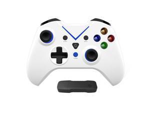 2.4G Wireless Controller Gamepad Joystick for Xbox One X/S, Xbox Series X/S, PC Windows 10/8/7 White