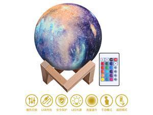 Moon lamp Children's gift creative table lamp Painted starry sky LED3D night light Desktop lamp Bedside lamp