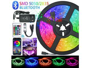 LED Strips Lights Bluetooth Luces Led RGB 5050 SMD 2835 Flexible Waterproof Tape Diode 15M DC 12V Remote Control+Adapter