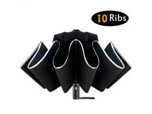 Inverted Umbrella/Travel Portable Windproof Folding Umbrella,10Ribs Auto Open/Close Umbrella,Reflective Stripes for Night Safety 14 orders