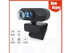 HD 1080P Webcam Mini Computer PC WebCamera with Microphone Rotatable Cameras for Live Broadcast Video Calling Conference Work HD 1080P Webcam Mini Computer PC WebCamera with Microphone Rotatable Came
