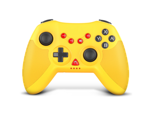 STOGA Wireless Controller for Switch, Proslife Gamepad Joystick with Auto Turbo, 6-Axis Gyro, Replacement for Nintendo Switch controller, Yellow