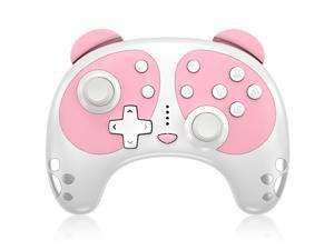 Wireless Controller for Nintendo Switch, STOGA Panda Cute Switch Pro Controller Compatible with Switch Lite/PC with NFC Wake-up Function, Support Motion Control Turbo Vibration